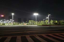 HYL 200W LED flood light application Ecuador